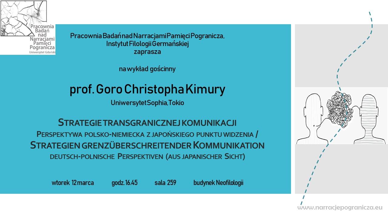 zaproszenie wykład prof. Goro Kimura